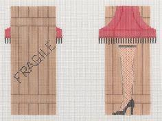 0 point de croix fragile jambe et bas - cross stitch fragile leg with fishnet stockings