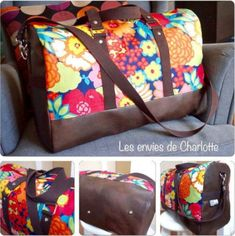 sac boston - les envies de charlotte Sac Week End, T Bag, Barrel Bag, Couture Sewing, Travel Organization, Boston Bag, Bowling, Hand Sewing, Diy And Crafts
