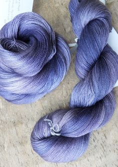 A Play at Purple Hand Dyed Silk Lace Yarn by sericin on Etsy