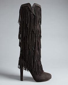 Jean-Michel Cazabat Fringe Tall Boots - Paige - Boots - Shoes - Shoes - Bloomingdale's