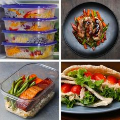 Need Weekday Lunch Ideas? These 5 Meal Prep Recipes Will Keep You On Track All Week Long Lunch Meal Prep 5 Ways Need Weekday Lunch Ideas? These 5 Meal Prep Recipes Will Keep You On Track All Week Long Healthy Diet Recipes, Healthy Meal Prep, Healthy Cooking, Lunch Recipes, Healthy Snacks, Cooking Recipes, Healthy Eating, Cooking Tv, Cooking Light
