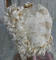 Incredible French Antique Bonnet