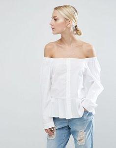ASOS | ASOS Off Shoulder Cotton Top
