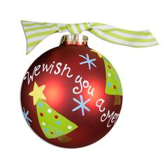 We Wish You A Merry Christmas Ball Ornament #christmas #southern #ornament