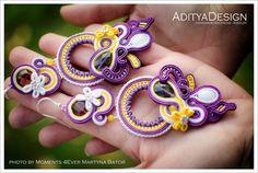 Soutache Earrings Purple Yellow Purple Earrings by AdityaDesign Soutache Earrings, Dangle Earrings, Earrings Handmade, Handmade Jewelry, Purple Earrings, Purple Yellow, Chandelier Earrings, Statement Jewelry, Dangles