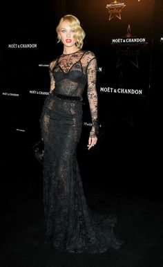 Minus the beading this dress is spectacular! Candice Swanepoel- at Moet Chandon Etoile Awards.