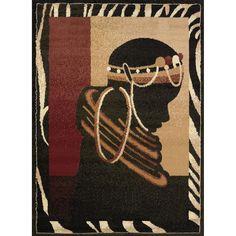 United Weavers Legends Silhouette Tribal Rug - 5'3'' x 7'2'', Multicolor