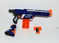 Nerf gun N-Strike retaliator with shoulder shock extender origanal clear mag    eBay