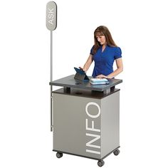 New Technolink Mobile Info Kiosks Let You Move Your Touch Points To Where They Help Desklibrary