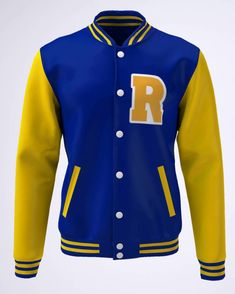 Moletom College Série Riverdale Azul e Amarelo Sweater Outfits, Girl Outfits, Riverdale Shirts, Stylish Outfits, Cute Outfits, Riverdale Fashion, Football Jackets, Rainbow Fashion, Holiday Outfits