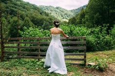 Beautiful Bride.....Beautiful Backdrop Hot Springs, Event Venues, Beautiful Bride, Good Times, One Shoulder Wedding Dress, Backdrops, Mountain, Celebrities, Wedding Dresses