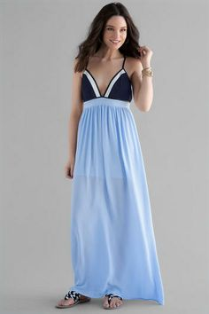 Quinn Color Block Maxi Dress. Get me this dress and a beach and I'll be golden.