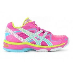 pink asics netball trainers