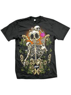 "Men's ""Bones Family"" Tee by 2K2BT (Black) #InkedShop #graphictee #menswear #mens #skeleton"
