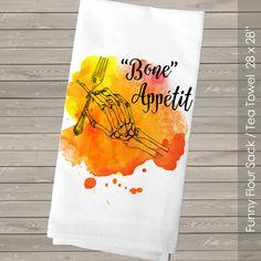 Halloween kitchen towel, drink up witches tea towel flour sack