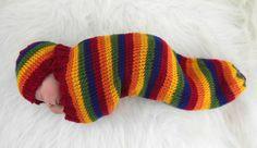 Cocoon Sleep Sack Sleep Bag Wrap in Rainbow by HeavenBoundHCA