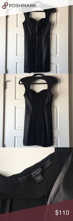 Guess faux leather dress Practically new Guess Los Angeles dress. Worn once for a couple hours then retired to my closet. Absolutely beautiful and in perfect condition! Guess Dresses Mini