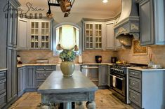Annie Sloan Chalk Paint Kitchen Cabinets | Paintbrush and Pearls: Painting Kitchen Cabinets with Chalk Paint®