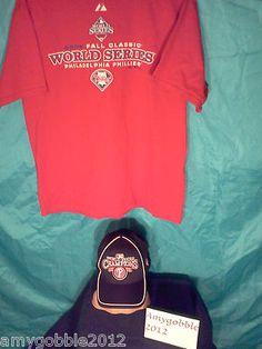 2008 World Series T Shirt & Hat Free Priority shipping bidding starts under $1