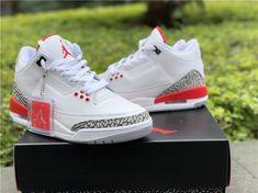 size 40 839b5 87979 2018 Cheap Air Jordan 3 Katrina White Cement Grey Black Fire Red-5 Newest  Jordans