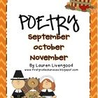 This download includes seasonal poetry to use in your classroom- 35 poems for the months of September, October, and November..   September poems ar...