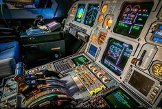 Airbus A319 cockpit.