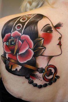 Lady Tattoo on back