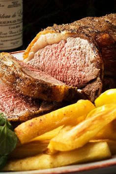 NYT Cooking: Roast beef for a holiday dinner or festive occasion is easy and impressive. There are many cuts to consider, from the… New York Strip Loin Recipe, New York Strip Roast, Duck Recipes, Roast Recipes, Cooking Recipes, Steak Recipes, Dinner Recipes, Roasted Vegetables, Roasted Potatoes