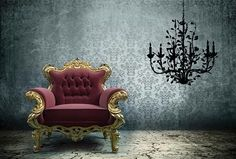 hous decor, 4999, zazous, irons, wall decals, chandeliers, bouf, wall stickers, iron chandeli