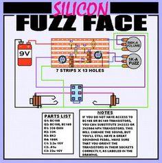 Fuzz Face on stripboard.