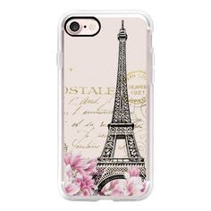 Vintage paris eiffel tower shabby chic pastel floral gold typography -... ($40) ❤ liked on Polyvore featuring accessories, tech accessories, phone cases, iphone case, vintage iphone case, apple iphone cases, gold iphone case, iphone cover case and iphone cases