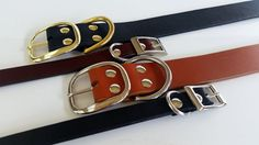 Plain Dog Collar / Leather Dog Collar / Custom Dog Collar / Black Dog Collar / Brown Dog Collar / The Signature Range