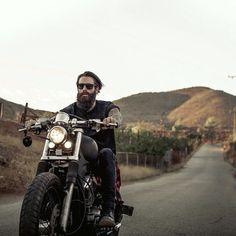 Beards. Men. Biker. Ink. Bike. Motorcycle. Engine. Photography.