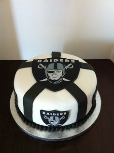 Sports theme cakes, I'm not a raiders fan but it looks cool
