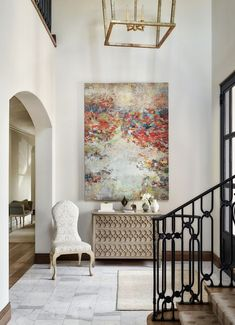 Interior Design Ideas Neutral Benjamin Moore Paint Color: Benjamin Moore Athena Painting is from artist Amy Donalds Hallway Decorating, Entryway Decor, Interior Decorating, Interior Design, Interior Ideas, Entry Way Design, Foyer Design, Design Entrée, House Design