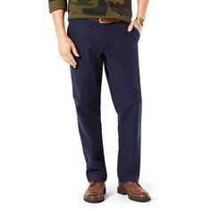 Men's Dockers Pacific Straight-Fit Washed Khaki Stretch Pants, Size: 34X34, Blue (Navy)