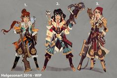 Rough sketches/ideas for a character-design I'm... - Johannes Helgeson
