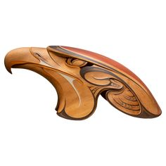 Eagle Head 'The ancient Hokioi' Wood Carving Designs, Wood Carving Patterns, Wood Carving Art, Bone Carving, Wood Art, Driftwood Sculpture, Bird Sculpture, Animal Sculptures, Native Art