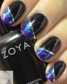 Check out this tutorial creating a gradient nail art design mixing pixie dust shades from Zoya's Wishes Collection. Brand new for winter 2014