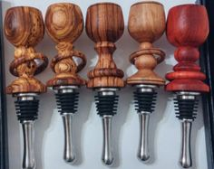 Wineglass Wood Turned Wine Bottle Stopper in your choice of Bocote, Zebrawood, Ambrosia Maple