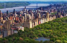 Central Park on the island of Manhattan ... New York, NY
