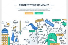 Protect Your Company Website Header by Decorwith.me Shop on Creative Market