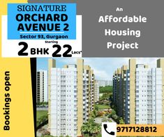 Sector 93 Gurgaon 2 BHK Starting from 22 Lacs* only Book with Bank Loan up to Lacs* of Govt. Affordable Housing, 2 In, Book, Books, Libros, Book Illustrations, Libri