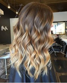 Why can't my hair look like this?!!!! #ombre #balayage #wavyhair