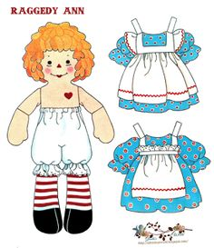 Raggedy Ann Paper Dolls (Andy's on the blog)