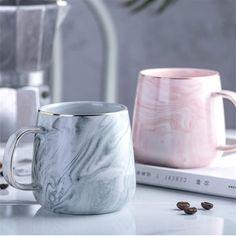 Europe Milk Coffee Mugs Marble Gold Inlay Mug Breakfast Mug Office Home Drinkware Tea Cup for Lover's Gifts Dropshipping Coffee Milk, Milk Cup, Marble Mugs, Grey Mugs, Glass Texture, Marble Texture, Ceramic Cups, Mugs Set, Beach House Decor
