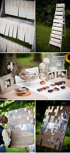 what a cool idea! each place card has part of an image on the back to make one big photograph