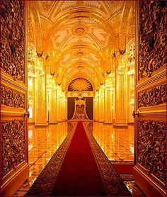 Moscow, Terem Palace, the Throne Room.