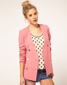 ASOS Double Breasted Blazer With Gold Buttons - StyleSays