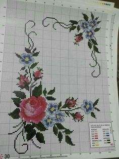 This Pin was discovered by Sev Cross Stitch Boards, Cross Stitch Needles, Cross Stitch Rose, Modern Cross Stitch, Cross Stitch Flowers, Cross Stitch Designs, Cross Stitch Patterns, Brush Embroidery, Embroidery Patterns